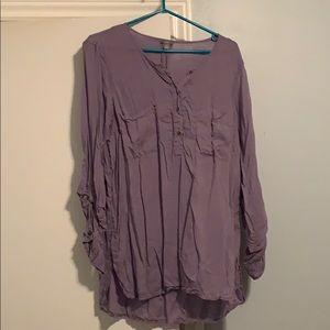 American Eagle Purple 3/4 Sleeve Tunic